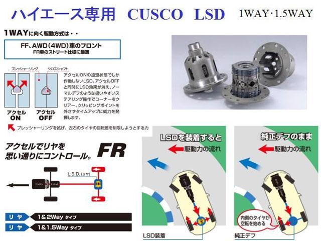 CUSCO製 ハイエース専用LSD