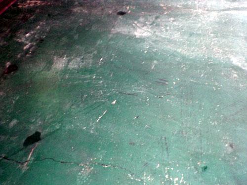 コロコロ♪床塗り