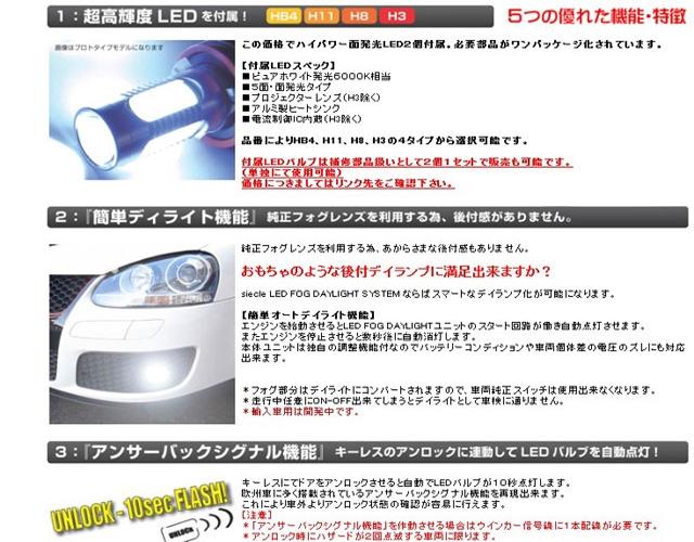 LEDフォグデイライトシステム