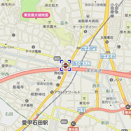 SA厚木 地図